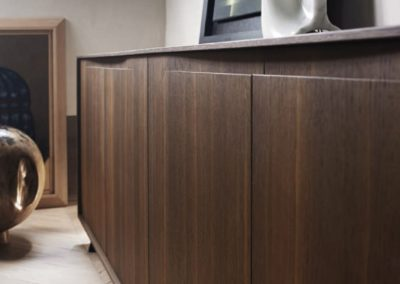 Wall-mounted sideboard / contemporary / lacquered wood / white