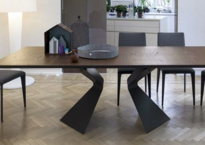 Contemporary table / glass / extending